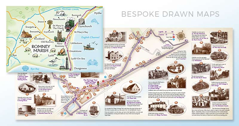Bespoke Drawn Maps