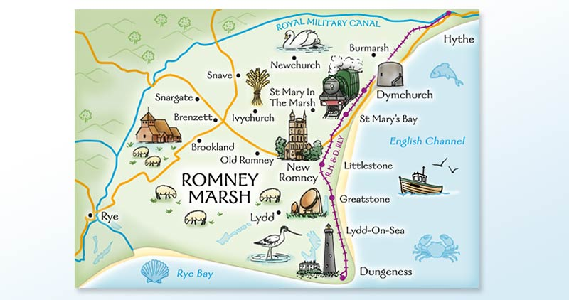 Map of Romney Marsh