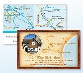 Maps on business cards