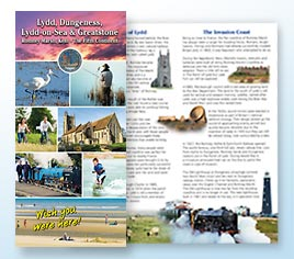Leaflet to promote Lydd, Dungeness, Lydd-On-Sea and Greatstone