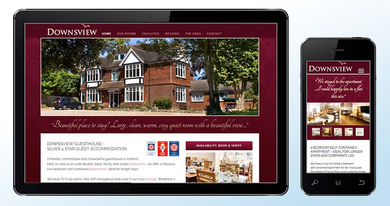 Downsview Guesthouse, Ashford website