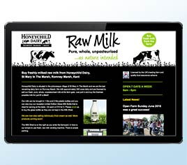 Honeychild Dairy selling Raw Milk