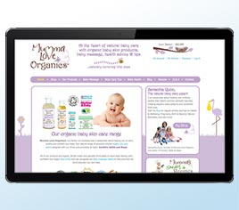 Mumma Love Organics Baby Skin Care information and shop